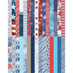 Picture of Pocket Red, White, & Beautiful Border Strips by Katie Pertiet - Set 30