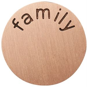 Picture of 'Family' Medium Rose Gold Coin