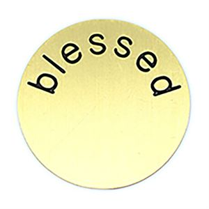 Picture of 'Blessed' Large Gold Coin