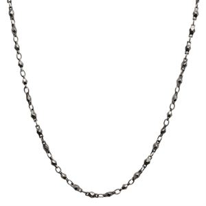 """Picture of Graphite Multifaceted Link Chain - 28"""""""