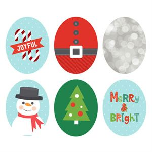 Picture of Holiday Oval Locket Backdrops
