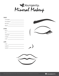 Picture of Mineral Make-Up Color Match Pad